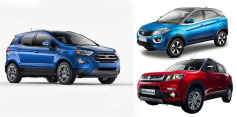 New 2017 Ford Ecosport Vs Tata Nexon Vs Vitara Brezza Comparison