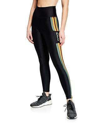 a27bbe3b PE Nation Designer Flyzip High-Rise Striped Leggings | Clothing > Activewear  > Leggings | Striped leggings, Leggings, Workout leggings with pockets