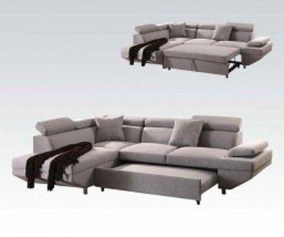Acme Furniture Jemima Versatile Sectional Sofa W Sleeper 52990 Sectional Sofa Acme Furniture Quality Bedroom Furniture