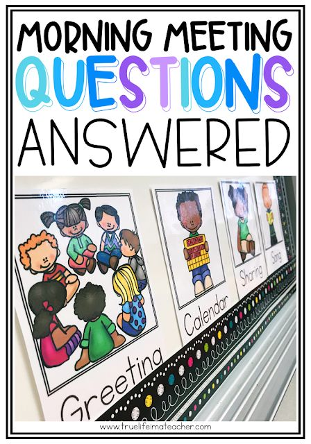 Your Morning Meeting Questions Answered Morning Meeting Kindergarten, Morning Meeting Activities, Kindergarten Classroom, Classroom Resources, Classroom Ideas, Preschool Attendance Ideas, Classroom Organization, Morning Meeting First Grade, Teacher Resources
