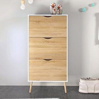 Diana Two Tone 3 Drawer Shoe Cabinet Schuhschrank Weiss Schuhschrank Einrichtungsideen Schlafzimmer