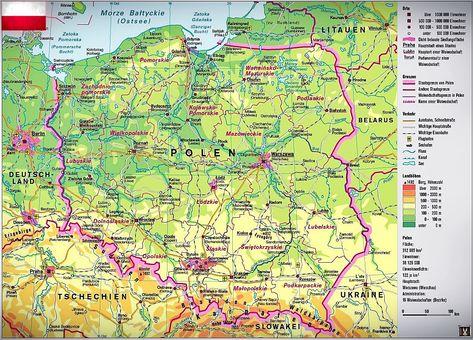 Polen Landkarte Polen Polen Karte Landkarte