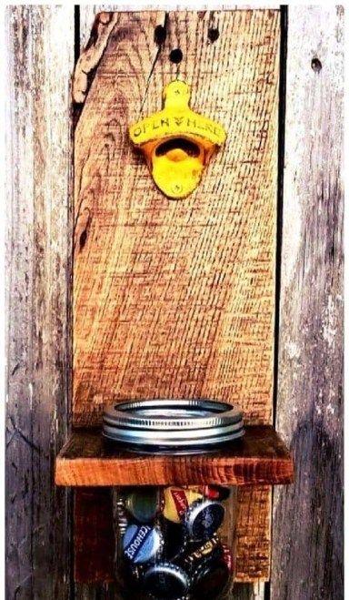اعمال يدوية منزلية Bottle Opener Wall Wood Decor Decor