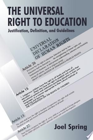 The Universal Right To Education Pdf By Joel Springpublished On
