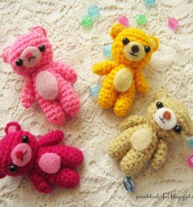 Crochet Teddy Bear KeychainTeddy Bear Keychain Amigurumi | Etsy | 407x380