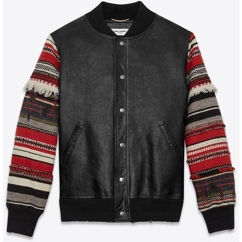 Elvis Presley in Concert Inspired Real Wool Leather Sleeves Varsity Jacket for Men