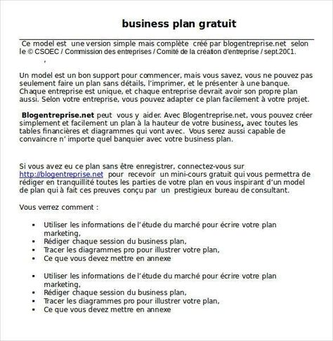 Simple Business Plan Template Word Business Proposal Template