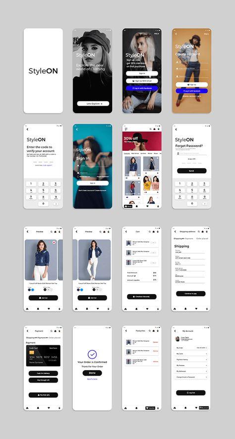 Women clothing ecommerce App UI Design