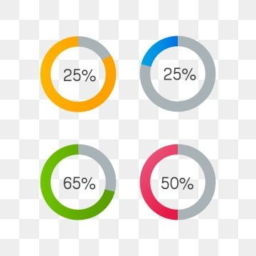 Colorful Circle Progress Bar Png And Vector Progress Bar Graphic Design Background Templates Color Puzzle