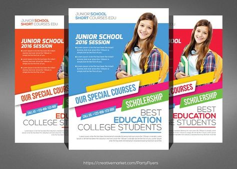 School Education Flyer Flyer template and Brochures - discount flyer template
