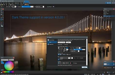 Screenshot Dark Theme Supported Added In Version 4 0 20 Buying Paint Best Free Drawing Software Drawing Software