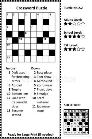 Crossword Puzzle Grid Clues Solution Classic Quick Family Friendly Easy Aff Clues Solution Grid Crossword Ad