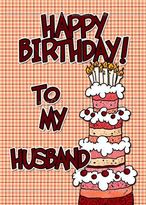 Happy Birthday To My Husband Card Ad Spon Birthday Happy Card Husband