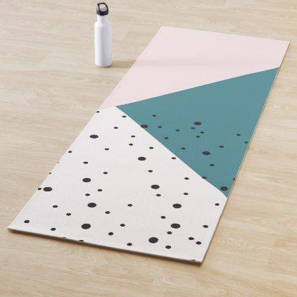 Abstract Pastel Pink Modern Pattern Yoga Mat Zazzle Com Modern