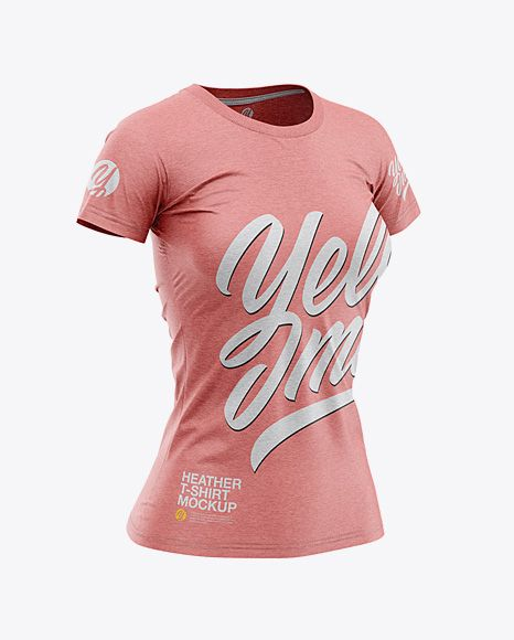 Women S Heather Slim Fit T Shirt Mockup Front Half Side View In Apparel Mockups On Yellow Images Object Mockups Shirt Mockup Tshirt Mockup Clothing Mockup