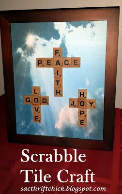 DIY Tile Crafts: How to Make Scrabble Ornaments and Scrabble Pictures