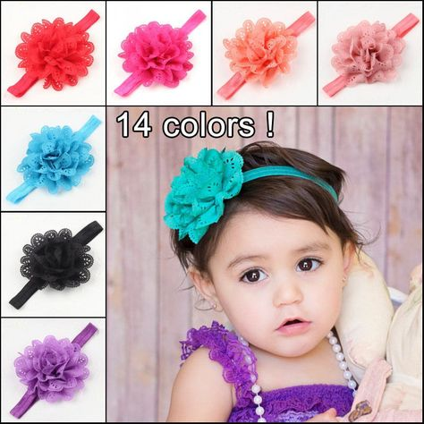 Kid Girl Baby Headband Toddler Bow Flower Hair Band Accessories Headwear Chiffon