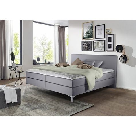 Boxspringbett Longridge Mit Topper Und Bettkasten Rosalind Wheeler Liegeflache 180 X 200 Cm Hartegrad Der Matratze H2 Ca 60 Bis 80 Kg Farbe Grau Home Decor Furniture Bed