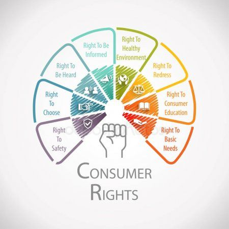 Consumer Rights Protection Wheel Infographic Family And Consumer Science Right To Education Infographic