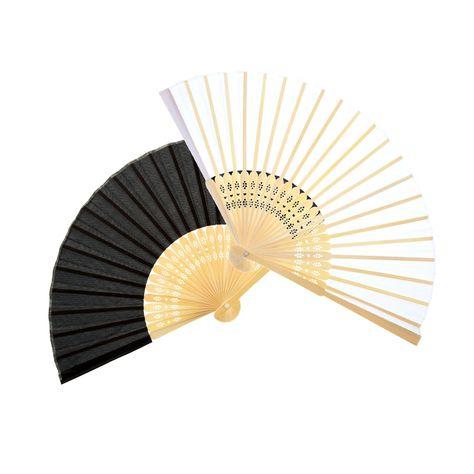 Bememo 12 Pack Hand Held Fans Silk Bamboo Folding Fans Handheld Folded Fan for