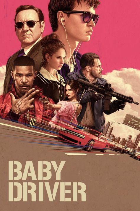 A3 size MOVIE Film Cinema wall Home Posters Art #10 BABY DRIVER