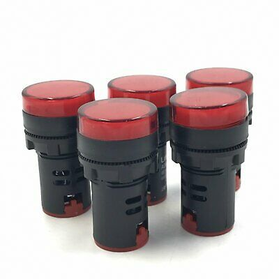 Details About 22mm 110v Red Led Indicator Pilot Signal Light Lamp Qty 10 M1 In 2020 Lamp Light Red Led Led Indicator