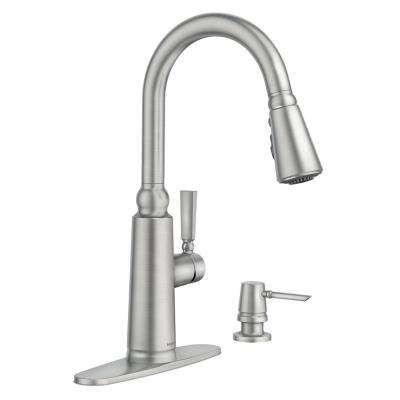 Coretta Single Handle Pull Down Sprayer Kitchen Faucet With Reflex