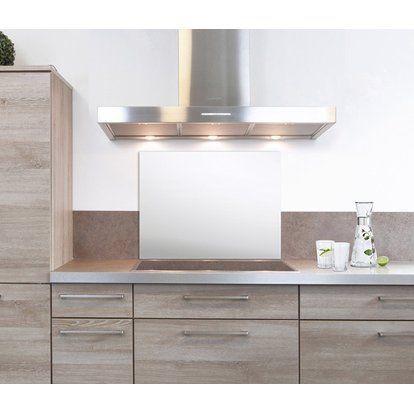 Spritzschutz Kitchenglas Weiss 60 Cm X 40 Cm Kaufen Bei Obi Spritzschutz Kuche Spritzschutz Kuchen Design