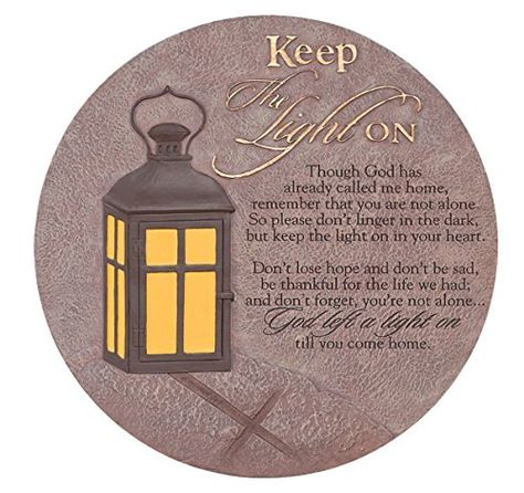 Dicksons Keep The Light On Lantern 6 Inches Resin LED Light Up Tabletop Cross