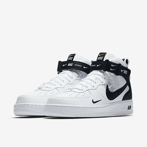 61481094a0 Nike Air Force 1 Mid  07 LV8 White   Black