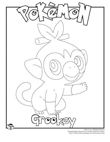 Grookey Coloring Page Pokemon Coloring Pages Coloring Pages