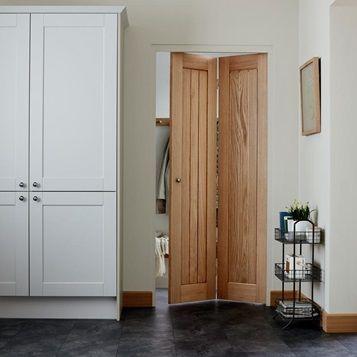 Use This Genoa Internal Oak Bi Fold Door To Open Up More Space In Smaller Rooms Bifold Doors Doors Interior Small Doors