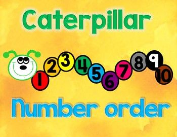 Number Order Caterpillar Students Love Putting Their Numbers 1
