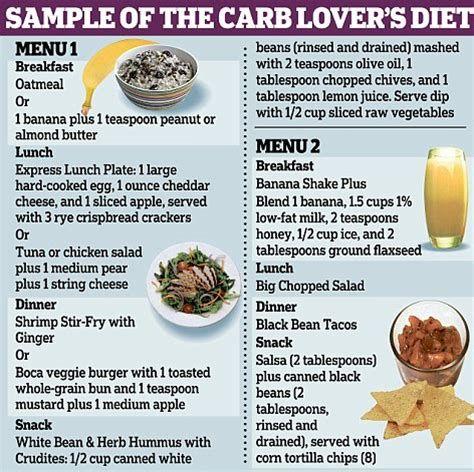 carb lovers diet menu