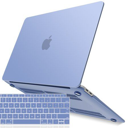 New Macbook Air 13 Inch Case A1932 2018 Release Ibenzer Soft Touch Hard Case Shell Cover With Keyboard Cover For Apple Macbook Air 13 Retina With Touch Id Serenity Blue Blue In