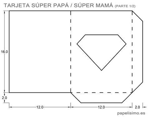 Tarjeta Logo Superman Con Plantillas Tarjeta Para Papa