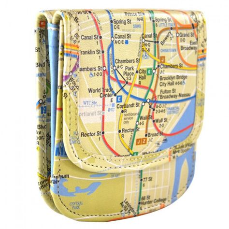 New York Subway Map Leather Taxi Wallet.Pinterest
