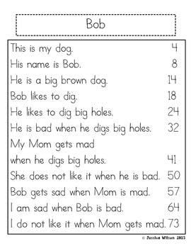 Kindergarten Fluency Passages | Reading fluency ...
