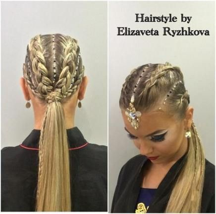 Romantic Braided Hairstyle In 2020 Dance Competition Hair Ballroom Dancing Hairstyles Competition Hair