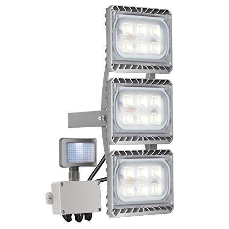 Motion Sensor Light Stasun 90w 8100lm Led Flood Light With Wider Lighting Area 6000k Daylight Built With Cre Motion Sensor Lights Led Flood Lights Led Flood