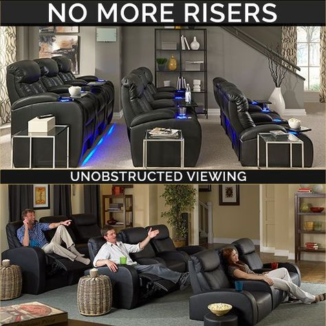 Best Products for home theater ever; Tiered theater seating. Save time, money, hassle, and more importantly, put that time and money into enjoying your new, luxurious theater chairs