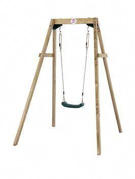 Plum Wooden Single Swing Set One Colour Decorations Faciles Decoration