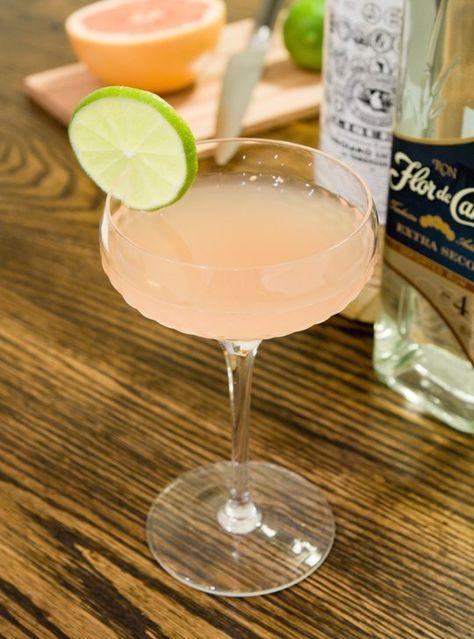 The Hemingway Daiquiri - Light Rum, Lime Juice, Grapefruit Juice, Maraschino Liqueur, Lime Wheel.
