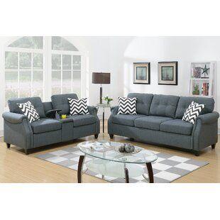 Allmodern Acevedo 2 Piece Living Room Set Living Room Sets Sofa And Loveseat Set Room Set