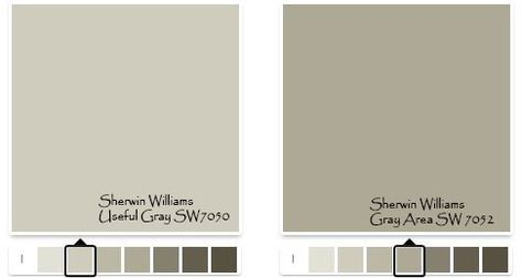 Sherwin Williams Useful Gray SW7050 For A Softer Look Or Area SW7052
