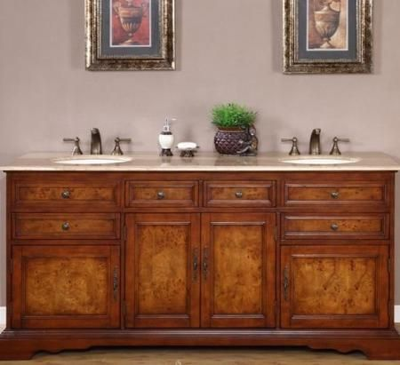 Double Sink Cabinet With 6 Drawers