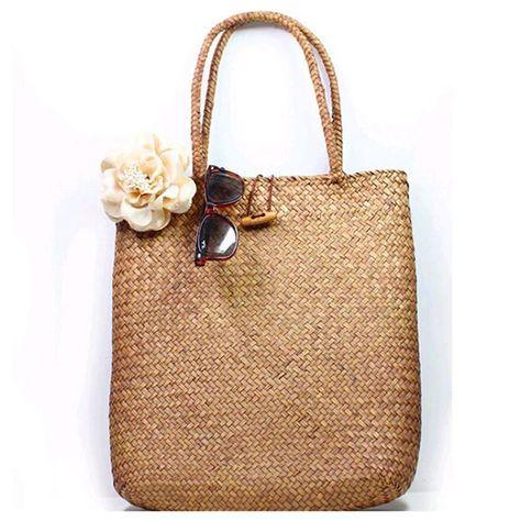25cad9b110a8 2018 новый трикотажные соломенная сумка для Для женщин летние богемные  модные Для женщин сумки, сумки