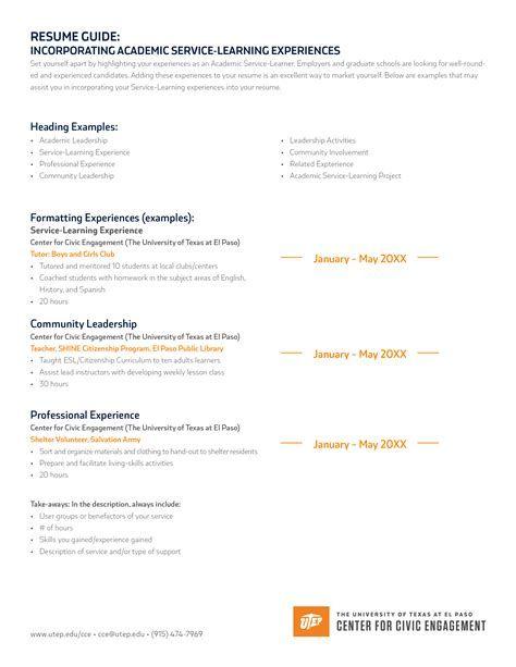 Utep Resume Help Resume Help Professional Writing Resume