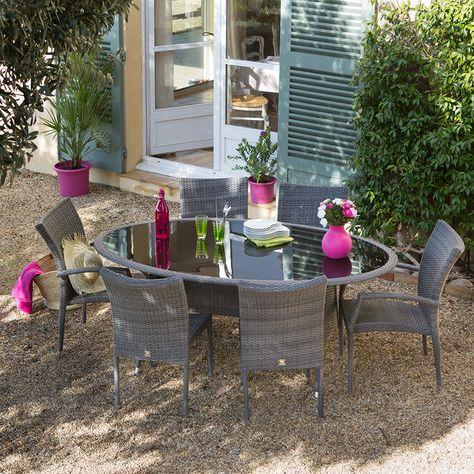 Salon De Jardin En Resine Tressee 6 Places Olisa Http Www