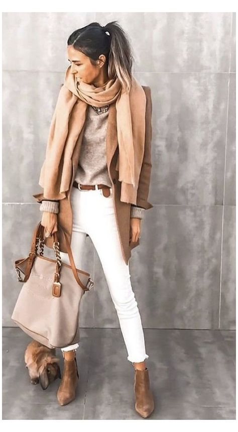 white jeans outfit winter